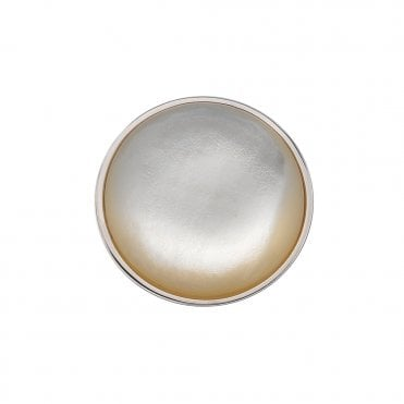 Perla Innocence Silver & White Mother Of Pearl Coin 33mm