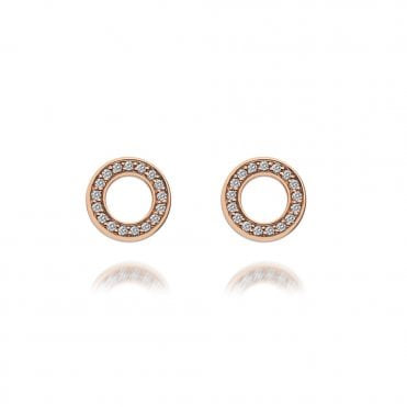 Purity Rose Gold & White CZ Stud Earrings