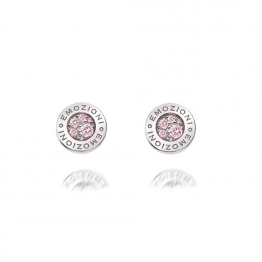 Scintilla Pink Compassion Silver & Pink CZ Stud Earrings