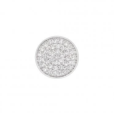 Silver and Clear CZ Scintilla Innocence Coin - 25mm