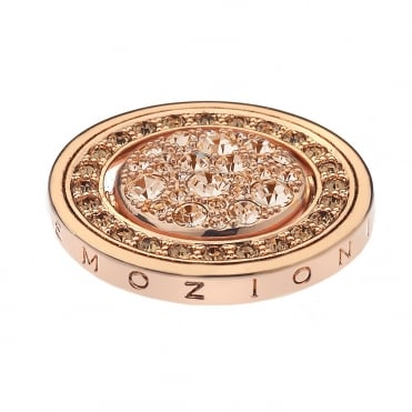 Silver Fiamme E Ghiacco Rose Gold Coin 25mm