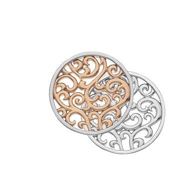 Silver & Rose Gold Vermeil Reversible Creativity Coin - 25mm