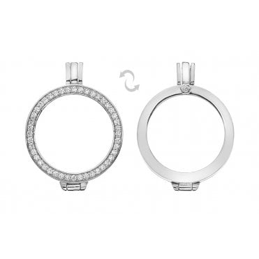 Silver & White CZ Reversible Keeper 25mm