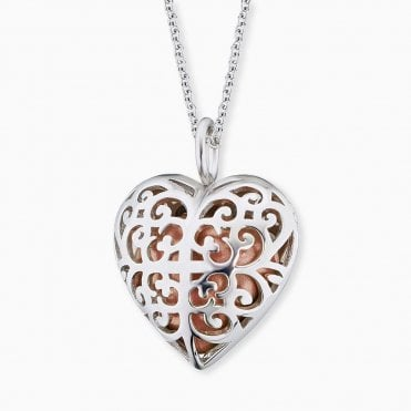 Silver Heart Chime Necklace