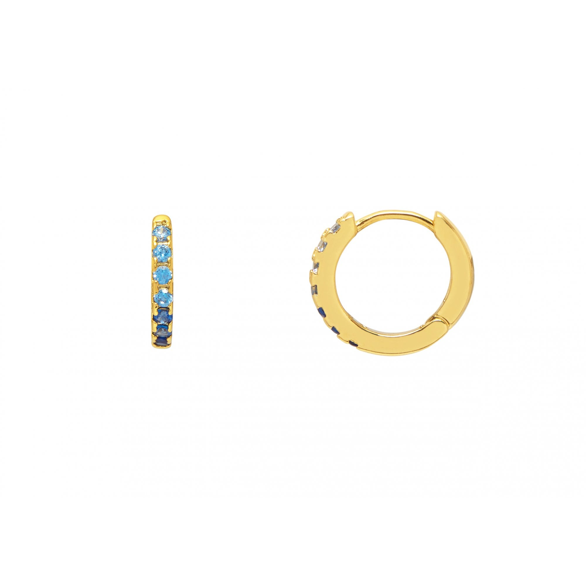 Estella Bartlett Silver-Plated Huggie Hoop Cubic Zirconia Earrings