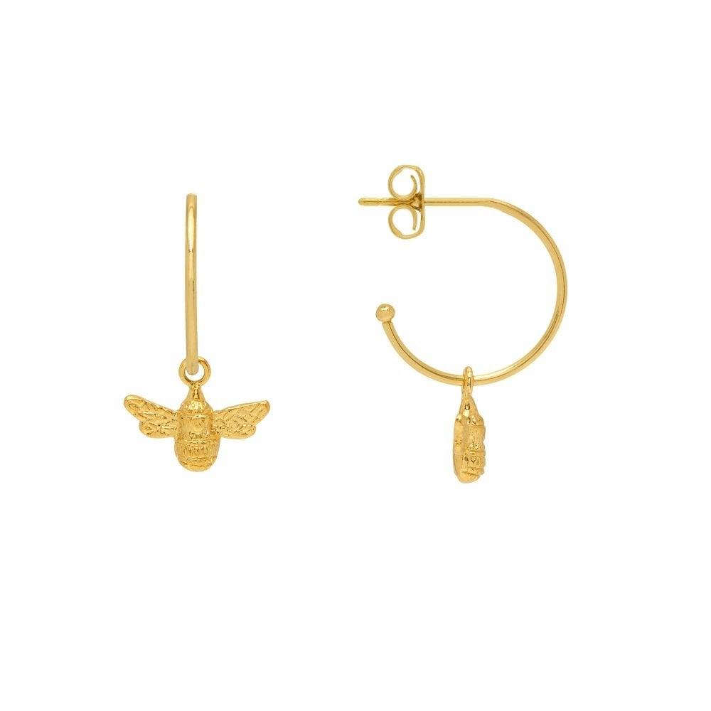c803e6c1ac ESTELLA BARTLETT Gold Bee Drop Hoop Earrings