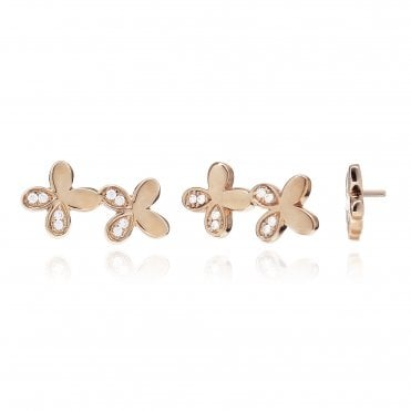 Aranyani Rose Gold & CZ Flower Necklace Charm