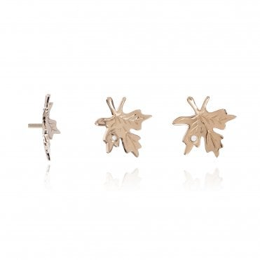 Aranyani Rose Gold & CZ Maple Leaf Necklace Charm