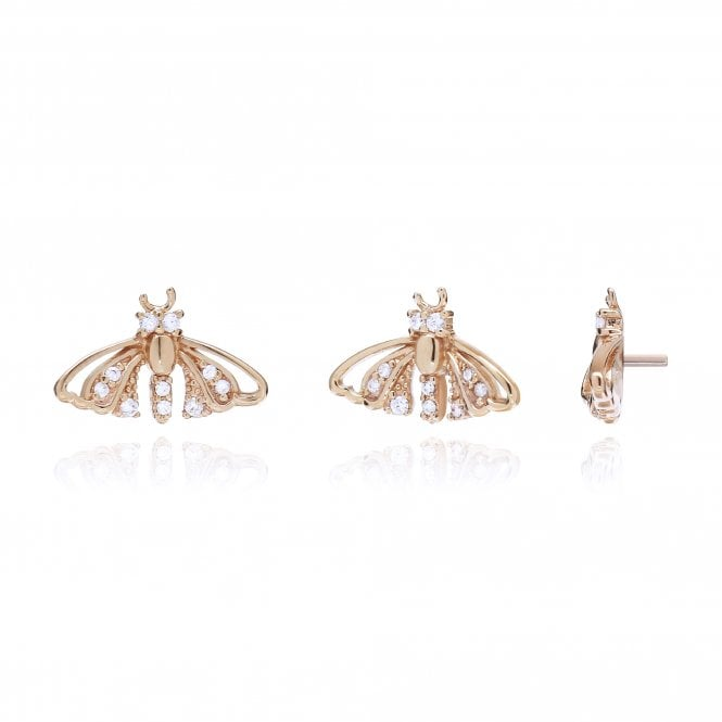 Aranyani Rose Gold & CZ Moth Necklace Charm