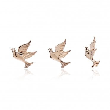Aranyani Rose Gold Dove Necklace Charm