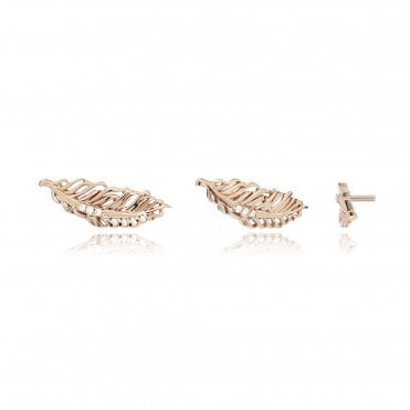 Aranyani Rose Gold Feather Necklace Charm