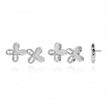 Aranyani Silver & CZ Flower Necklace Charm