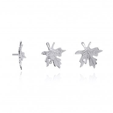 Aranyani Silver & CZ Maple Leaf Necklace Charm