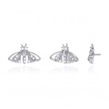 Aranyani Silver & CZ Moth Necklace Charm