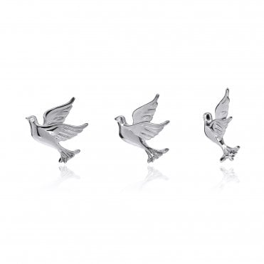 Aranyani Silver Dove Necklace Charm