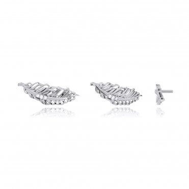 Aranyani Silver Feather Necklace Charm