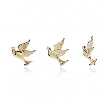 Aranyani Yellow Gold Dove Necklace Charm