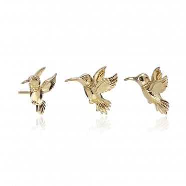 Aranyani Yellow Gold Hummingbird Necklace Charm