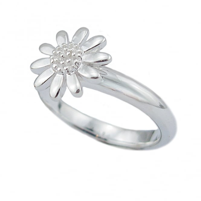 Grace & Co Daisy Silver Ring Size P