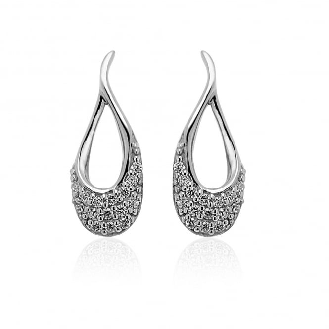Grace & Co Silver & CZ Loop Earrings