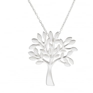 Silver Sacred Tree Pendant Necklace