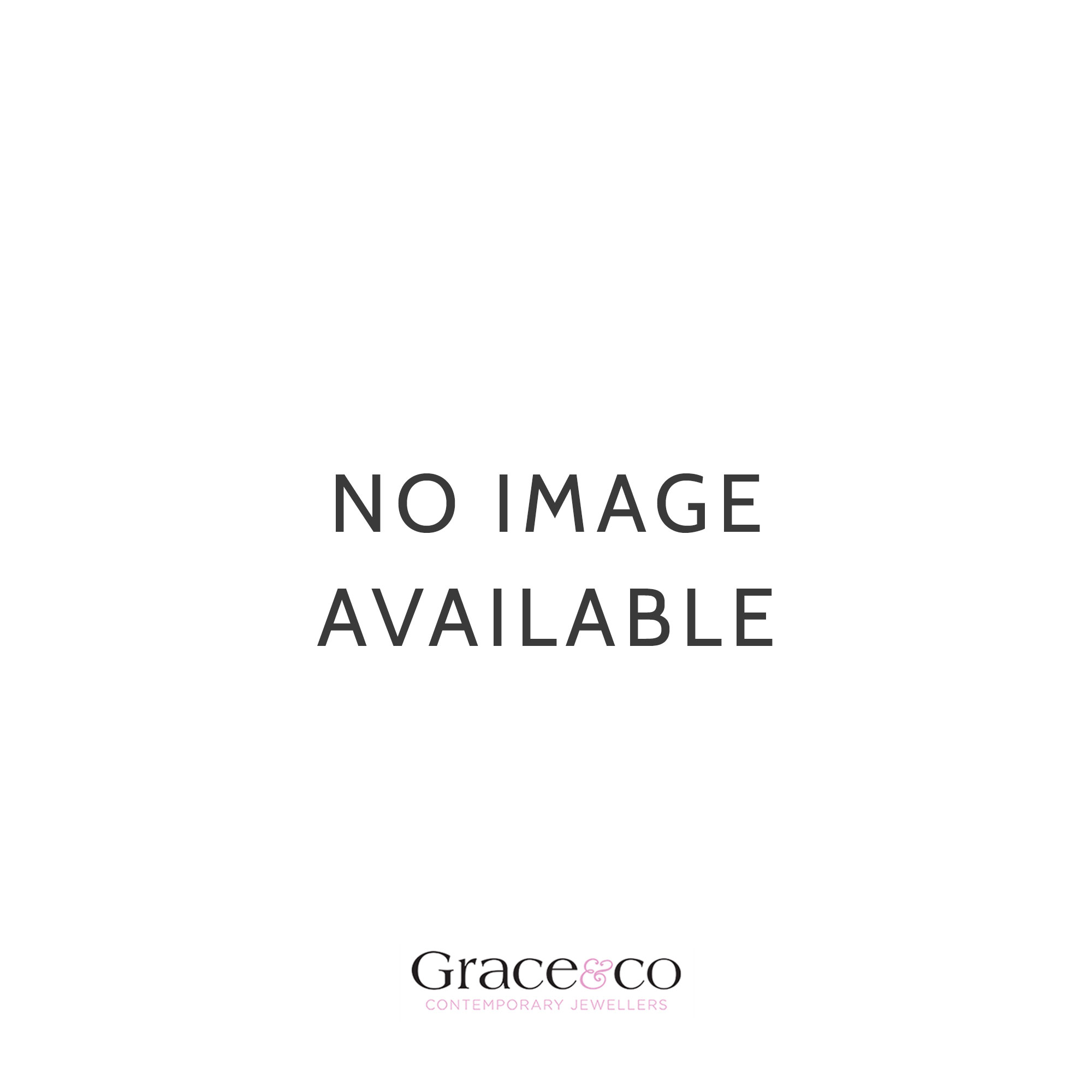 Grace & Co Silver and Dark Blue CZ September Birthstone Necklace