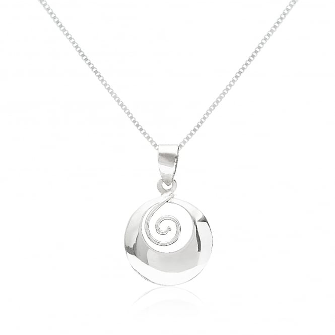 Grace & Co Silver Chunky Swirl Pendant Necklace