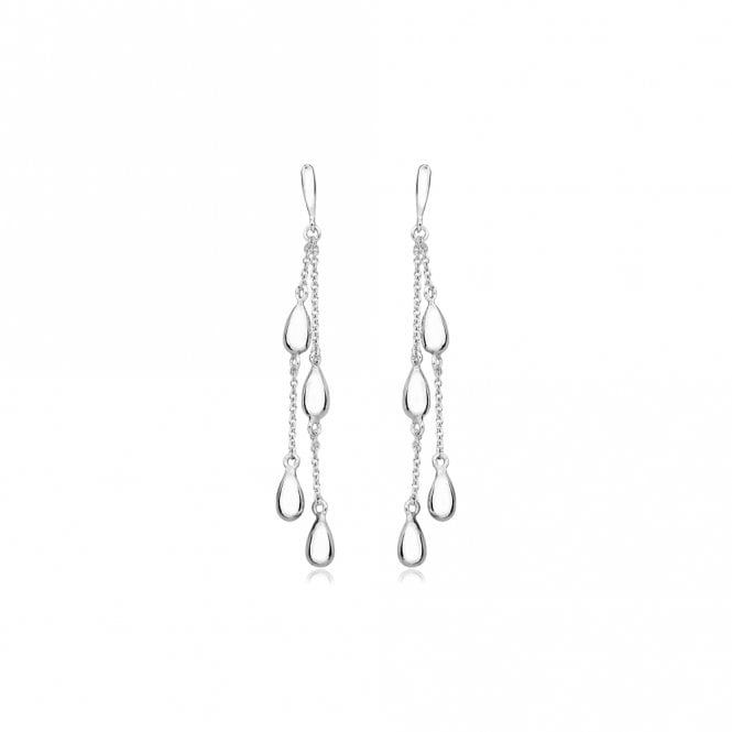 Grace & Co Silver Four Drop Earrings