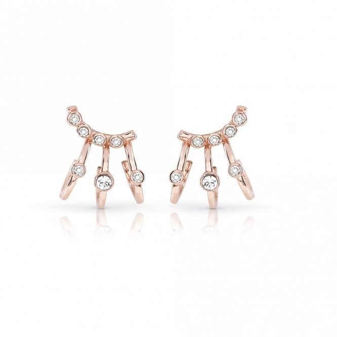 Guess Crystal Beauty Rose Gold Earrings