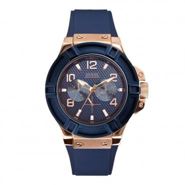 Gent's Silicone Blue Watch