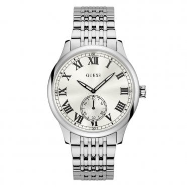 Gent's Silver & Sunray White Dial Watch