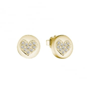 Heart Devotion Gold Earrings