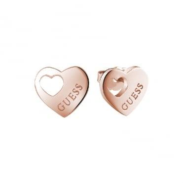 Heart Devotion Rose Gold Earrings