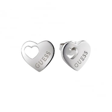 Heart Devotion Silver Earrings