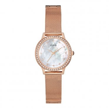 Ladies' Mother of Pearl Rose Gold Mesh Watch