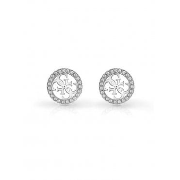 9a92090ab4 Steel and Crystal Tropical Sun Stud Earrings