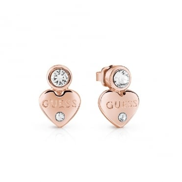 Guessy Rose Gold Earrings
