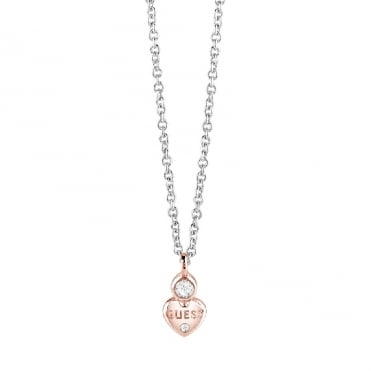 Guessy Two Tone Pendant Necklace
