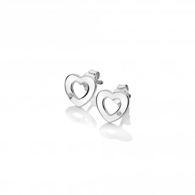 Hot Diamonds Amulet Silver Heart Stud Earrings