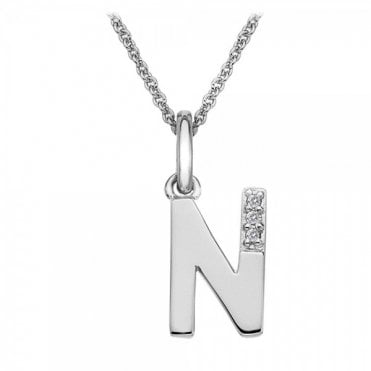 Classic Letter N Micro Pendant Necklace