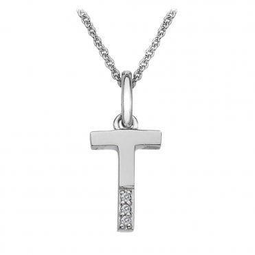 Classic Letter T Micro Pendant Necklace