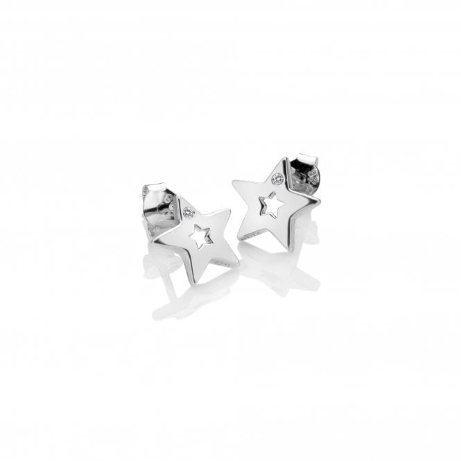 Hot Diamonds Silver and Diamond Amulet Star Earrings