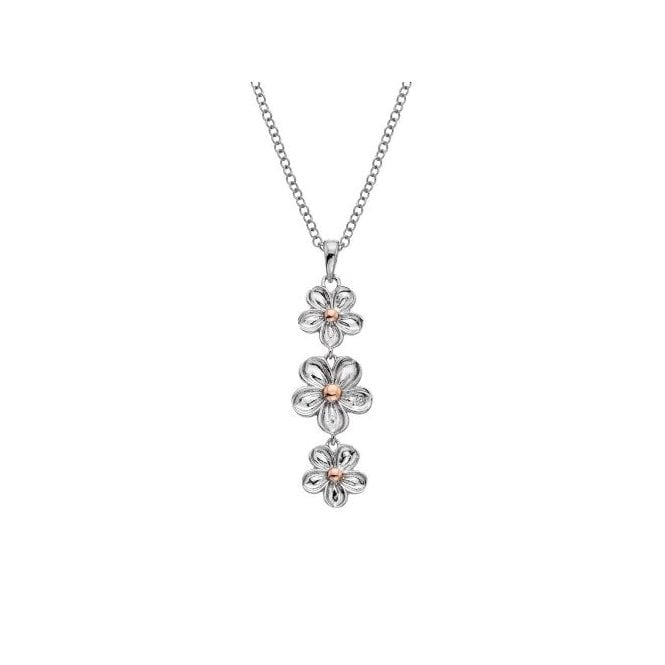Hot Diamonds Silver and Diamond Forget Me Not Drop Pendant