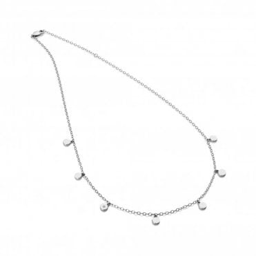 Silver and Diamond Monsoon Choker Necklace