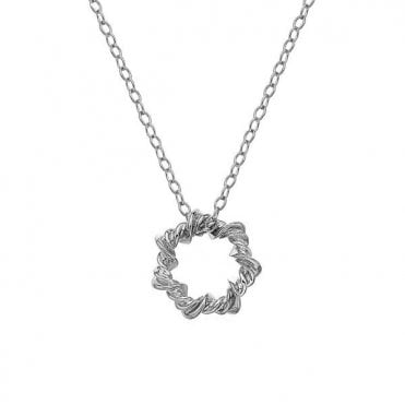 Silver and Diamond Twisted Vine Necklace