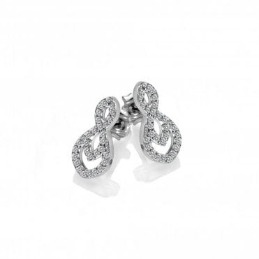 Silver and White Topaz Harmony Earrings