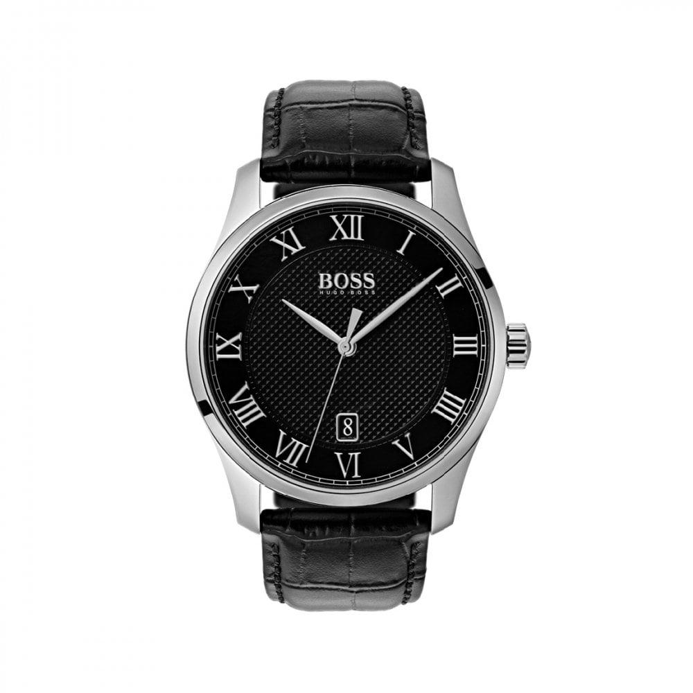 5b6f518aa0ac8 Grand Prix Black Steel and Tan Leather Strap Chronograph Sport Watch