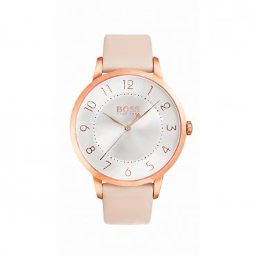 Ladies Eclipse Silver White Rose Gold & Pink Watch