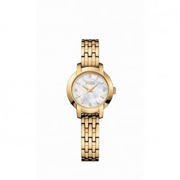 Ladies Success White Mother Of Pearl Gold & Gold Watch