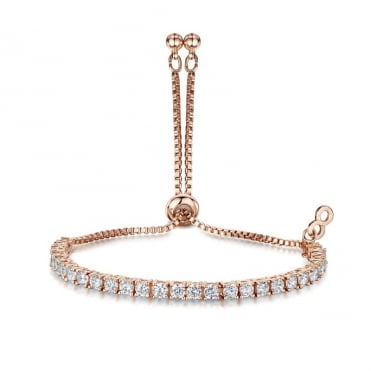 Anya Rose Gold Four Claw Friendship Bracelet